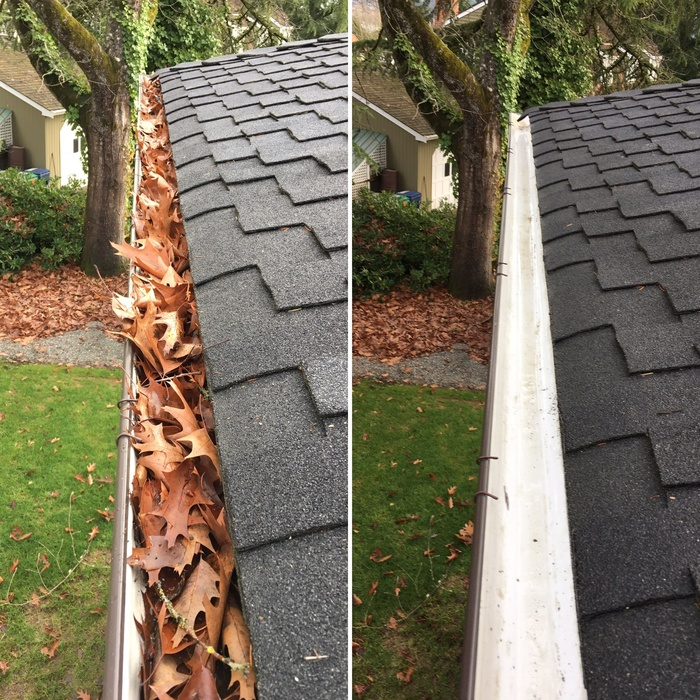 If you're a Pacific Northwest homeowner, you've navigated our rainy season before. But while the grey skies might be old news for you, they can do a number on your property. A professional gutter cleaning service is a simple way to protect your home - and your investment! OUR GUTTER CLEANING SOLUTION We know that gutter cleaning isn't just a component of your property maintenance checklist: It's an essential component. That's why our professionals deliver a thorough service to protect your investment. We use a time-tested method to clean your gutters and prepare them for reliable service. First, you can get an instant bid right from our website to get an estimate for the project. After making an appointment that suits your calendar, our team will: Arrive trained, courteous, and ready for service If needed, remove lawn ornamentation to prepare the worksite Safely position ladders around the perimeter of your home Remove debris and buildup from your gutter system Clear clogs from your downspouts Test the gutter system to make sure it runs smoothly Leave your gutters clean and ready to protect your home a4e4263a-f074-11eb-8183-a0369f10330e Get A Free Estimate YOUR GUTTER CLEANING GUARANTEE With gutter cleaning from Squeegee Pros, you are investing in the quality of your property. Our team delivers a professional service that will: Prevent flooding into your basement and around foundation Stop erosion to your landscaping and soil Kill mold and mildew to prevent a costly issue down the road Keep out infestations from insects and rodents Your gutters the tool that every home needs. Your property relies on this system when rain is in the forecast - and they let you approach any weather with peace of mind. Let Squeegee Pros meet your gutter cleaning needs all year long!
